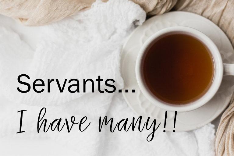 Servants...I have many!!
